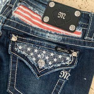 NWT Miss Me Jeans Signature Boot Cut Pants Sz 27